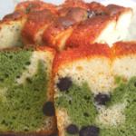 青汁&甘納豆マーブルパウンドケーキ